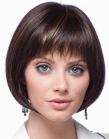 Perruque courte brun foncé avec mix