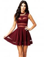 Mini-robe à franges transparentes