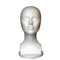 Tete en styromousse pour perruques